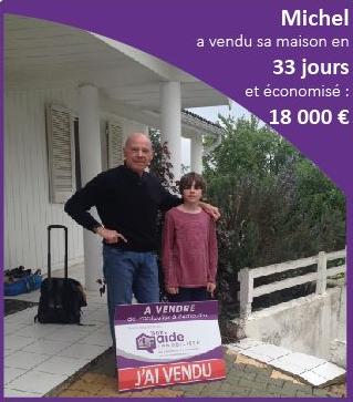 Michel a vendu sa maison en 33 jours et économisé 18 000 euros avec Mon Aide Immobilière