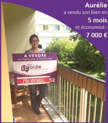 Aurélie a vendu son appartement en 5 mois et économisé 7000€ avec Mon Aide Immobilière